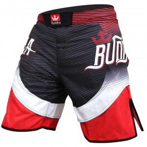 BUDDHA MMA SHORTS BLACK/RED